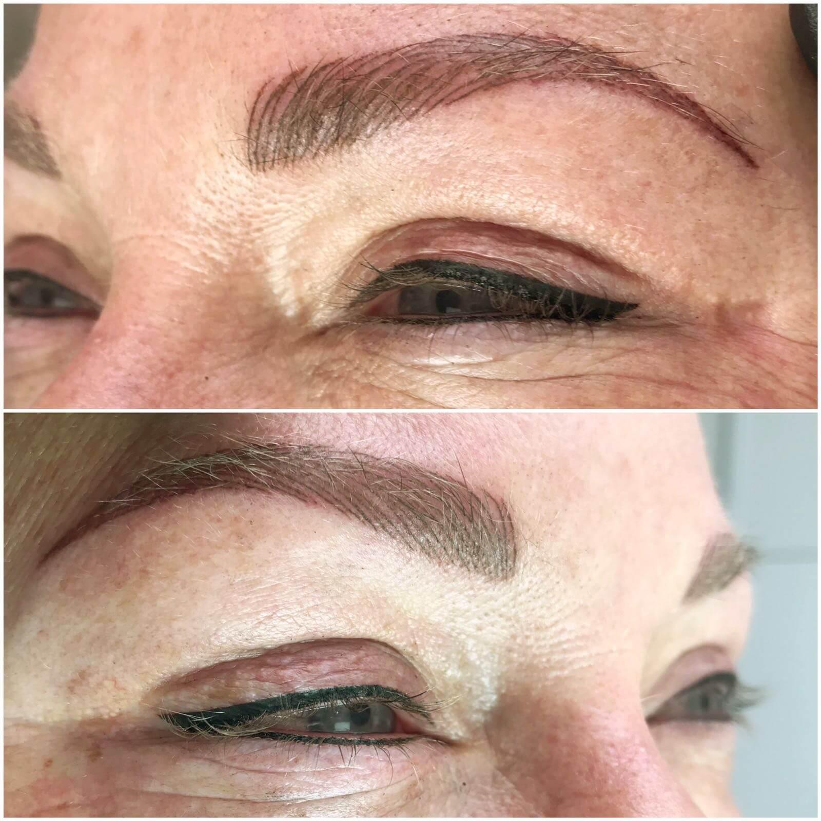 Een kort verslag hoe een behandeling verloopt Permanente wenkbrauwen en Eyeliner
